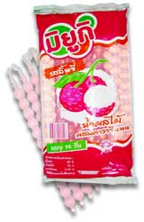 Tube Syrup Fruit Drink with Carrageenan Lychee Flavour Miyuki Brand