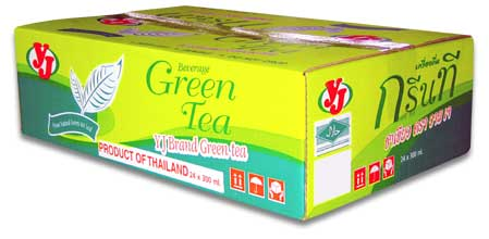 Carton of Can Green Tea Beverage YJ Brand