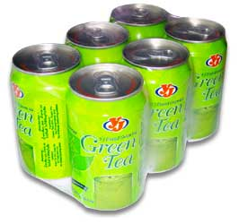 Green Tea Beverage in Can Pack 6 YJ Brand